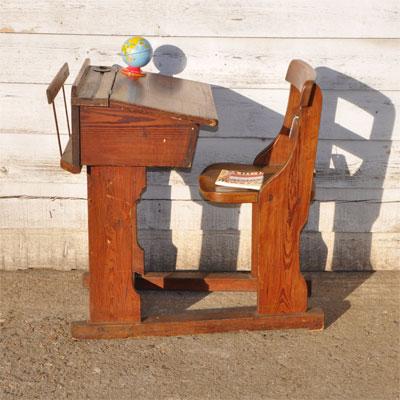 vintage school desk and chair home barn vintage 400x400 jpeg