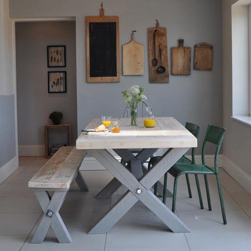 Reclaimed Wood Refectory Dining Table Home Barn Vintage : HOMEBARN RECLAIMED TRESTLE LEG DINING TABLE from www.homebarnshop.co.uk size 500 x 500 jpeg 69kB