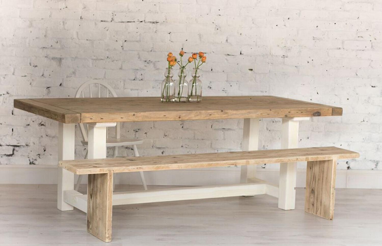 Reclaimed Wood Farmhouse Dining Table 5ft Home Barn Vintage