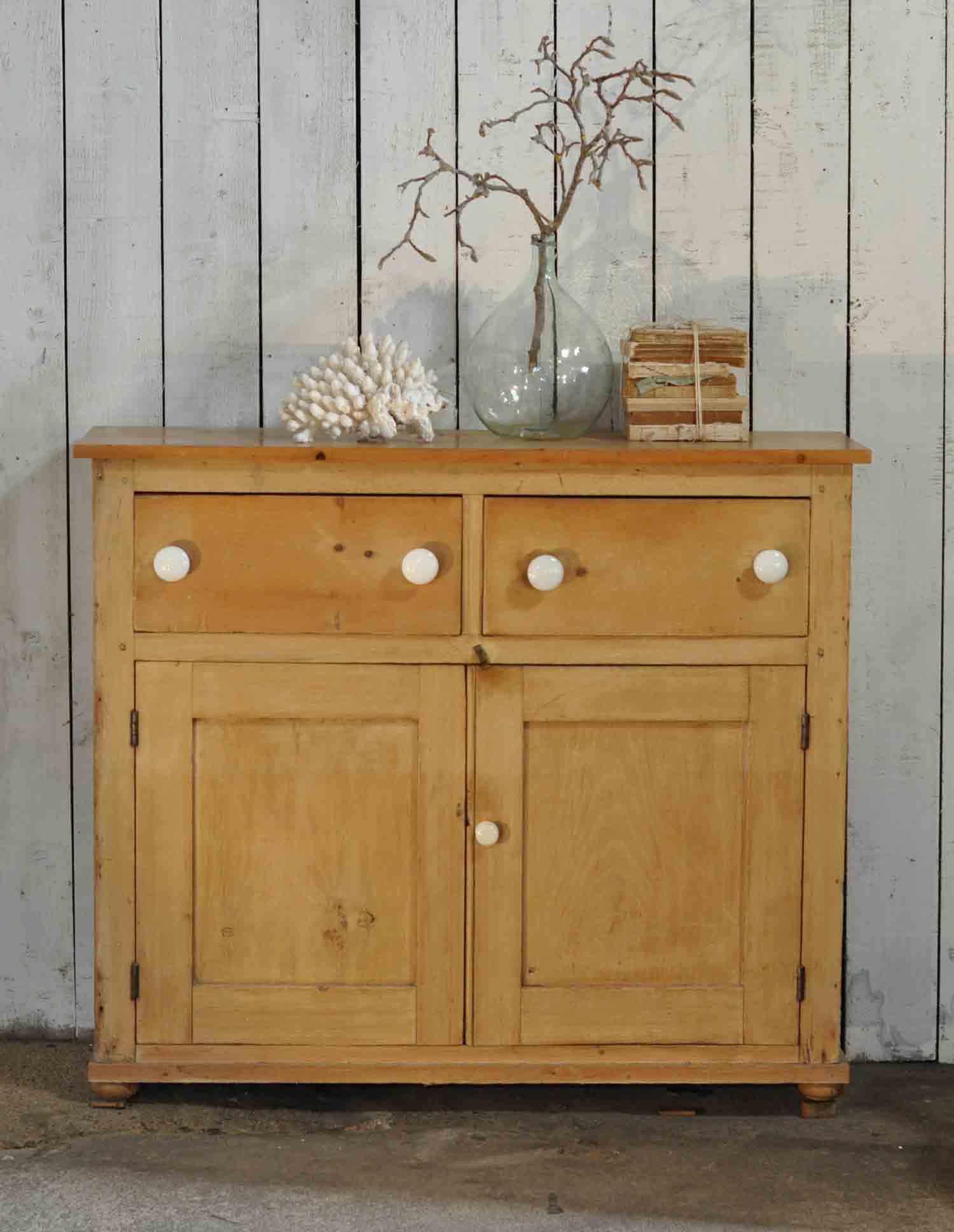 Pine Cabinet Doors Pine School Cabinet Two Drawers Over Two Cupboard Doors
