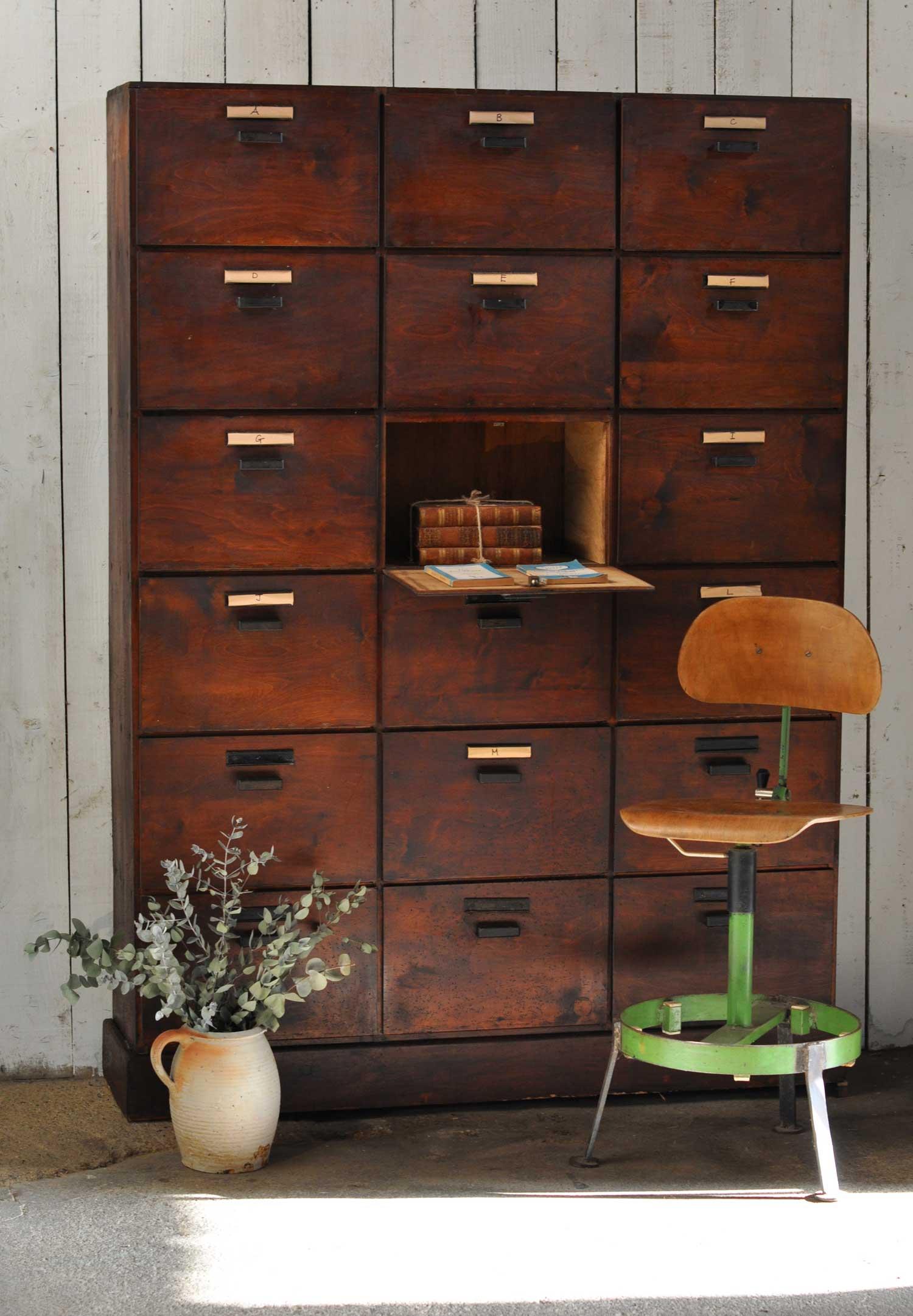 Industrial Vintage Rustic Eighteen Door Locker Unit