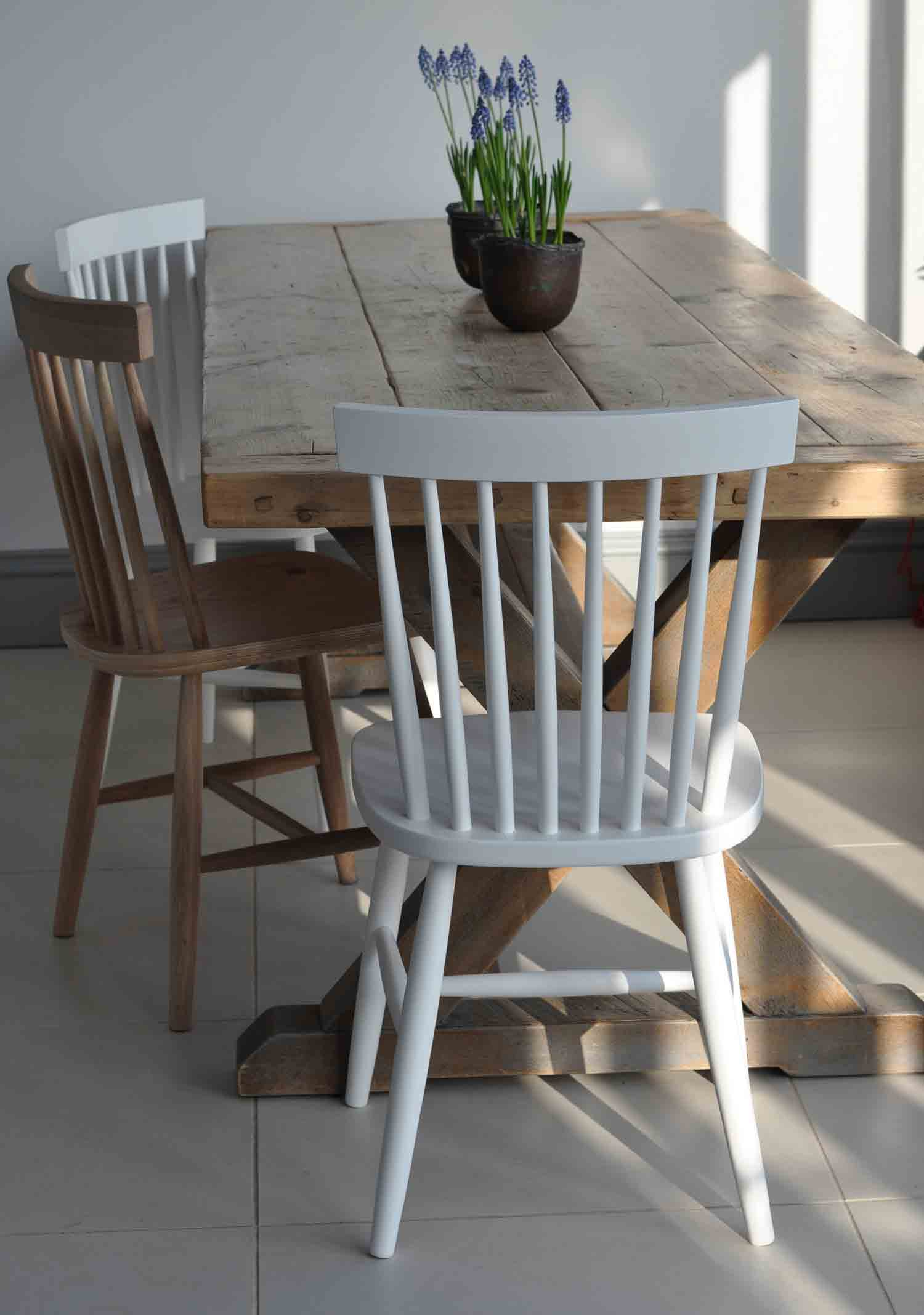 Oxford spindle back dining chair white painted or for White painted dining table