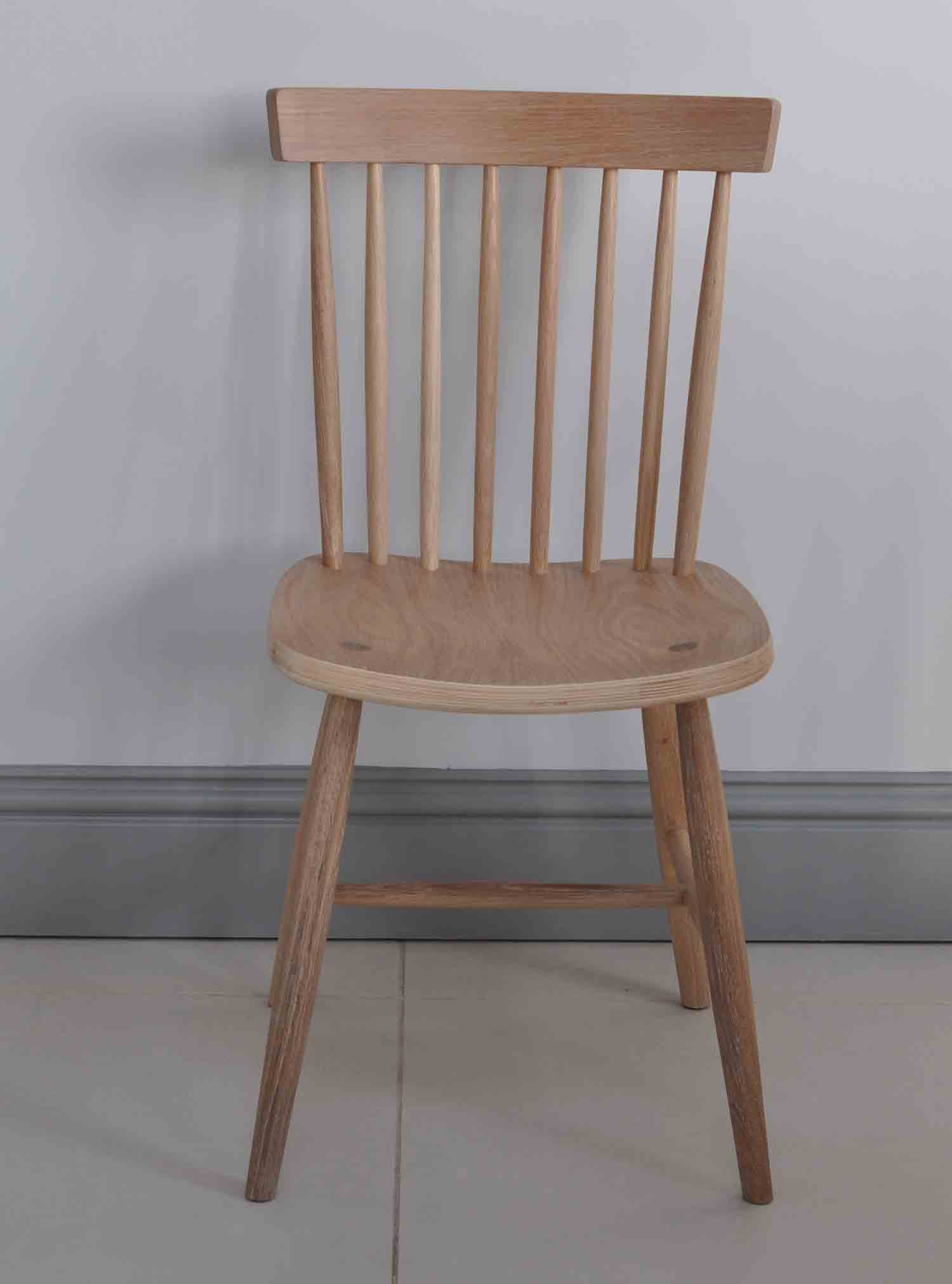 Oxford spindle back dining chair white painted or for Oak dining chairs