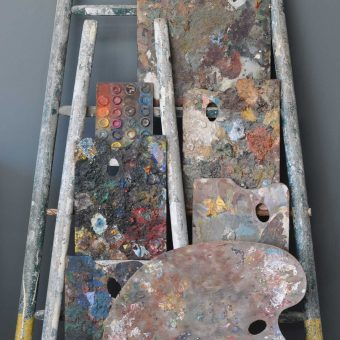 Antique Artist Palettes Collection Art Installation