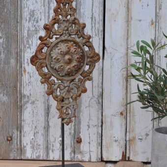 Antique Belgian Architectural Salvage Cast Iron Artwork