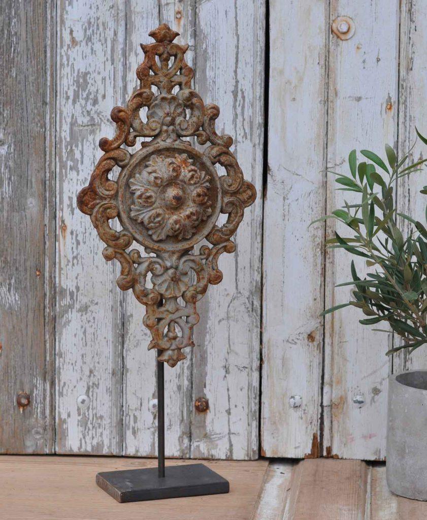 Antique belgian architectural salvage cast iron artwork for Antique decoration items
