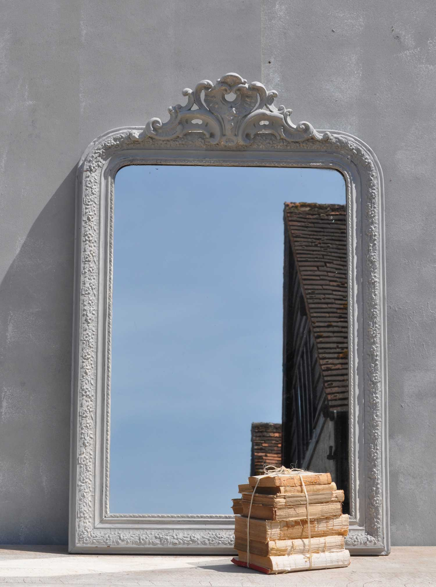 Antique Late 1800 S French Ornate Mirror Home Barn Vintage