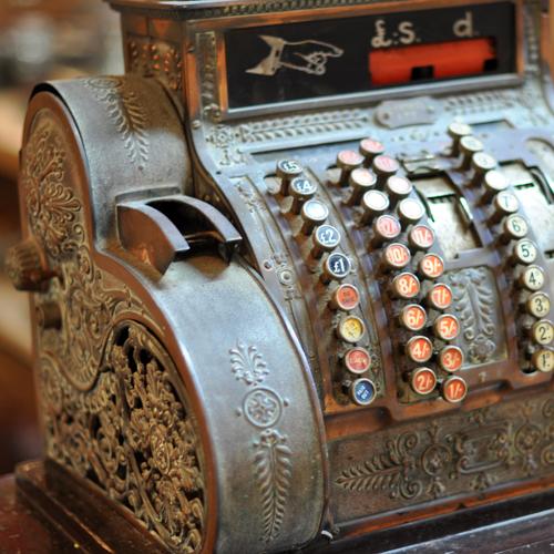 Antique National Till Cash Register Home Barn Vintage