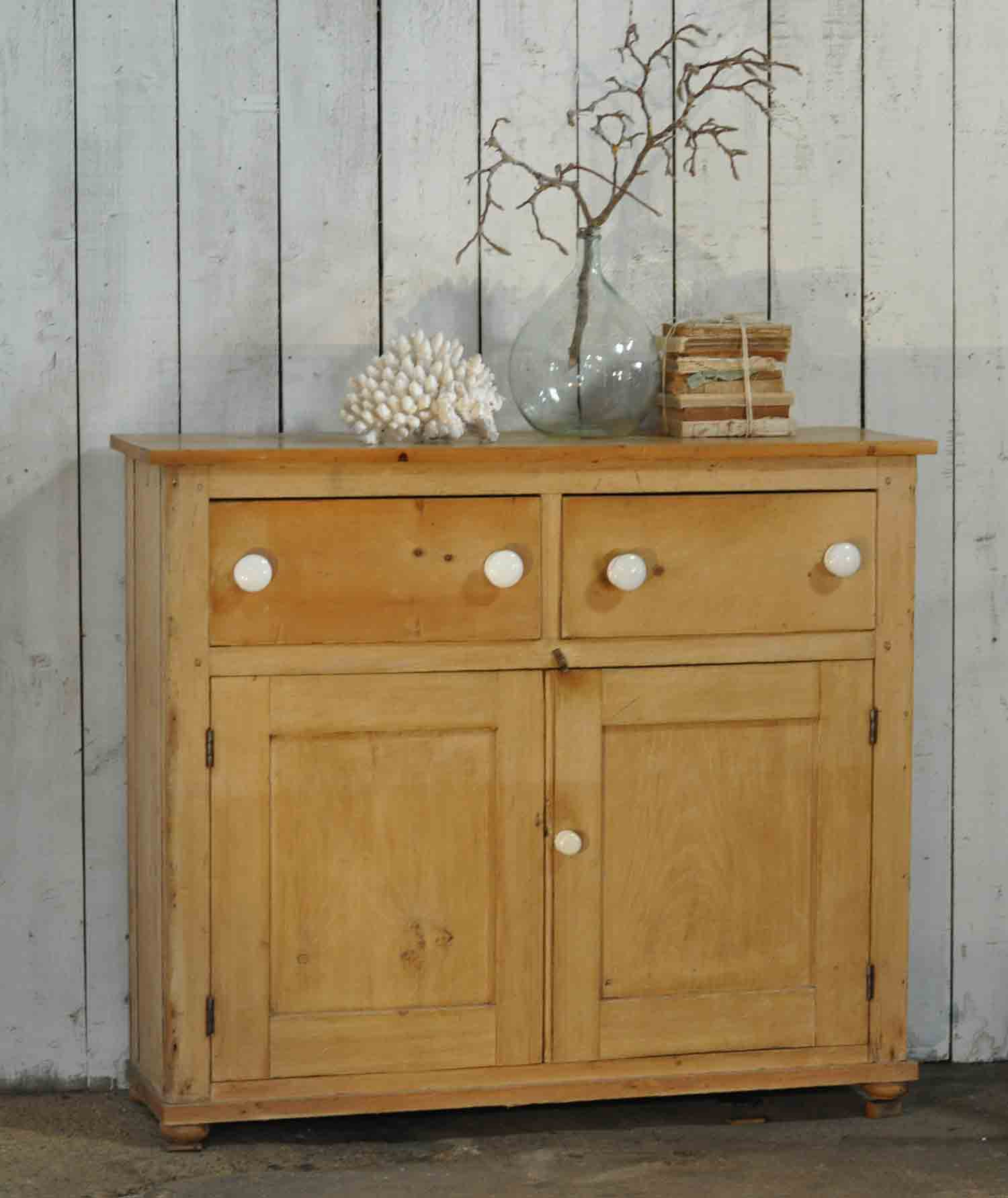 antique cabinet doors. antique pine school cabinet two drawers over cupboard doors