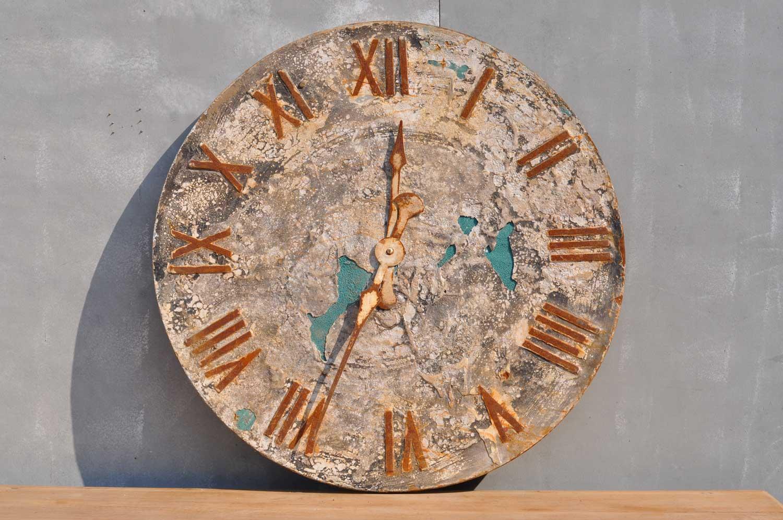 Decorative Folk Art Style Rustic Clock Face Artwork Home