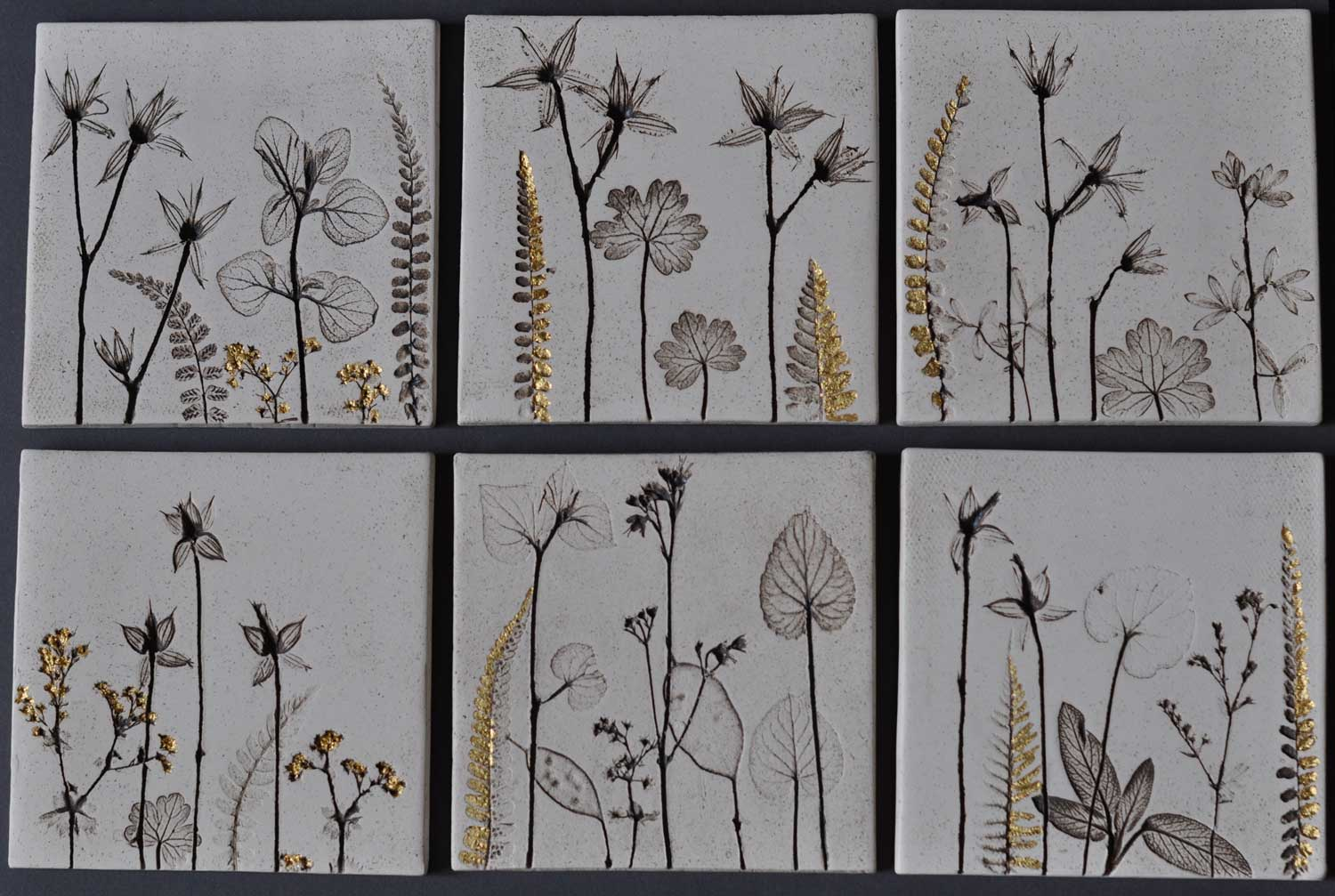 Hand made ceramic botanical wall art tile home barn vintage hand made ceramic botanical wall art tile dailygadgetfo Images