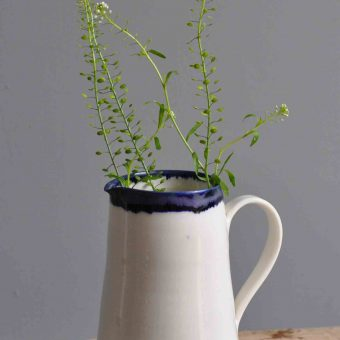 Hand Thrown Porcelain Jug Medium By Edit Juhasz