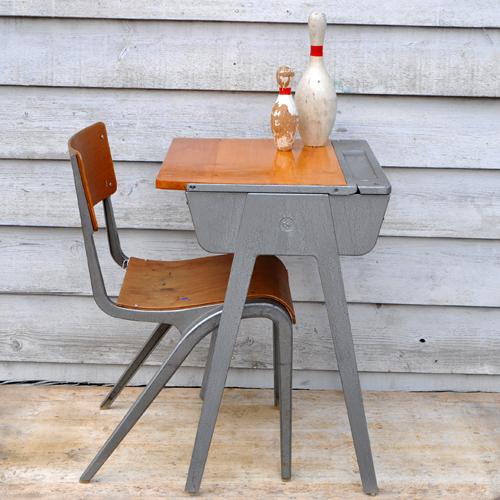 Retro Children S Esavian School Desk And Chair Home Barn