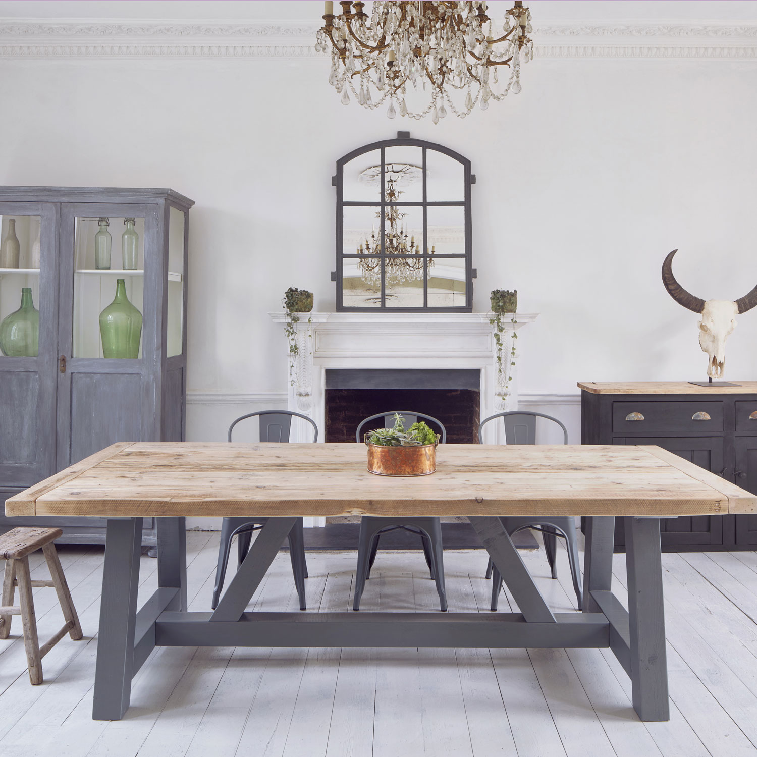 Salvaged Timber Industrial Reclaimed Dining Table