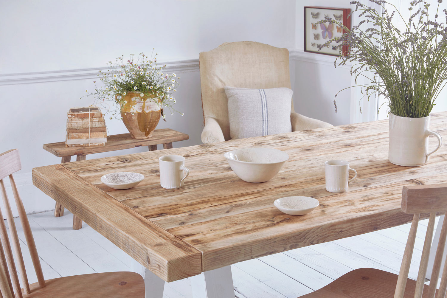 Picture of: Reclaimed Wood Rustic Dining Table Home Barn