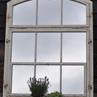 Huge Reclaimed industrial Timber Window Pane Mirror