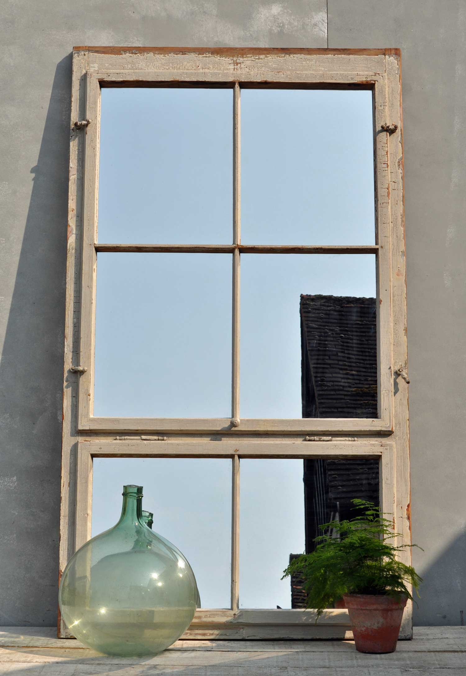 Huge Timber Industrial Warehouse Window Mirror Home Barn