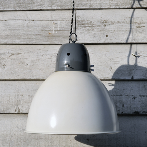 Large industrial spun metal pendant lamp shade white home barn large industrial spun metal pendant lamp shade white aloadofball Gallery