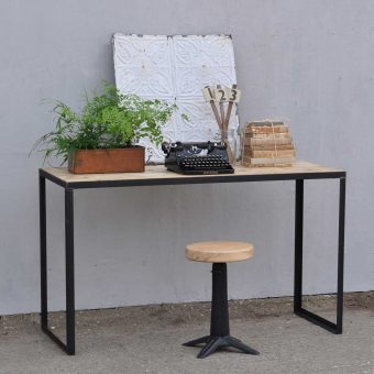 Industrial Steel And Salvaged Timber Desk Or Console