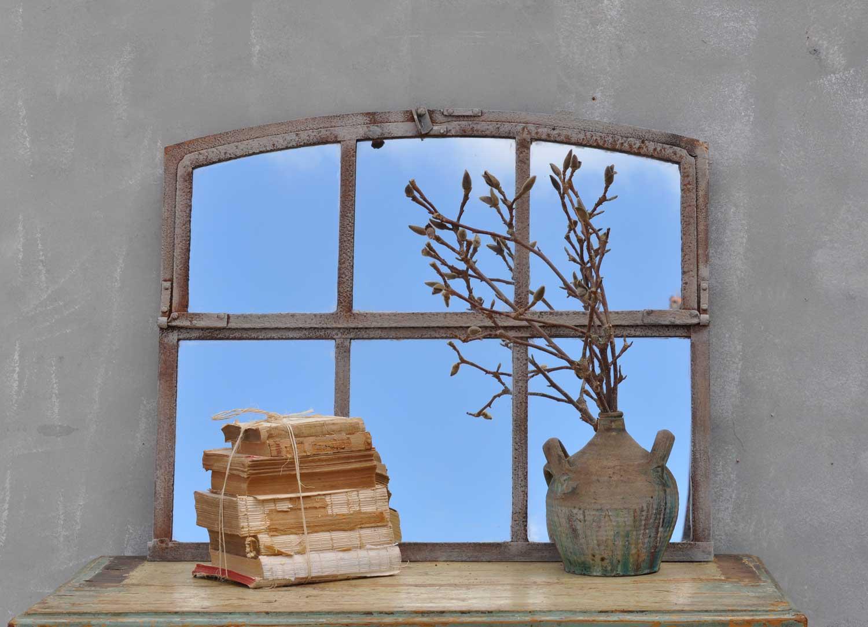 Industrial Warehouse Six Pane Window Mirror Home Barn