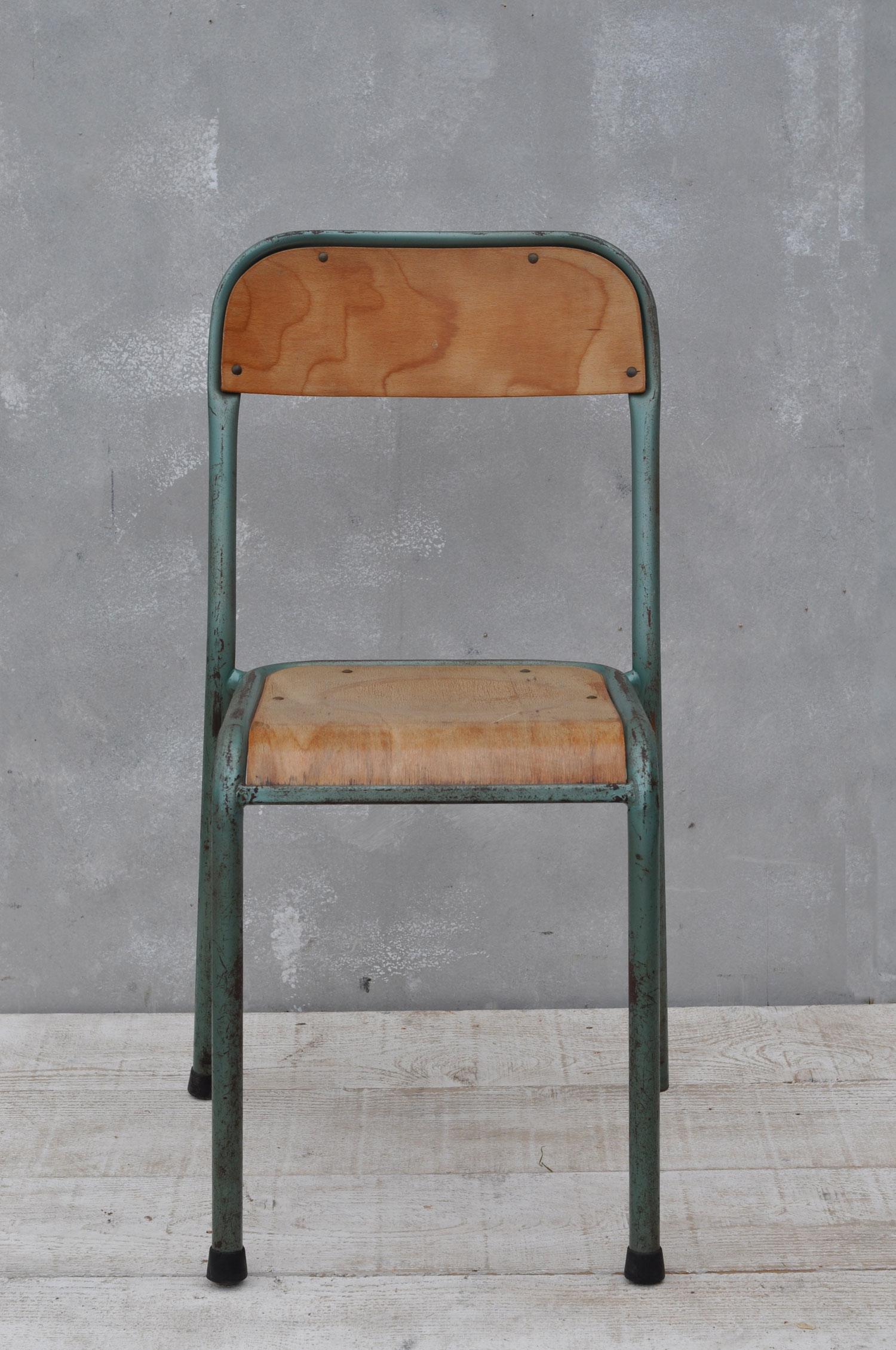 Vintage Industrial Metal Framed Chair Home Barn