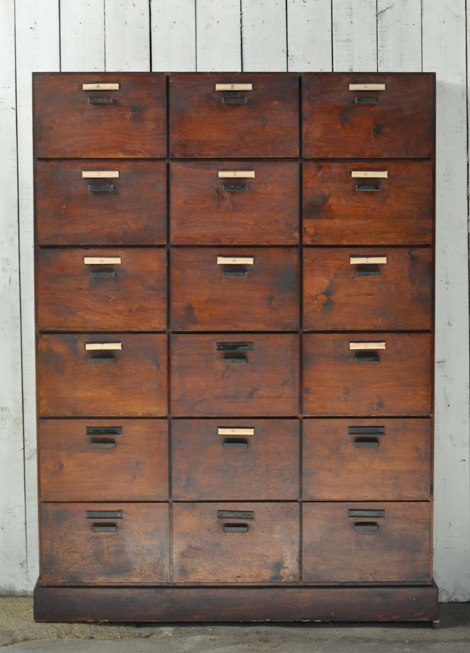 Locker style cabinets