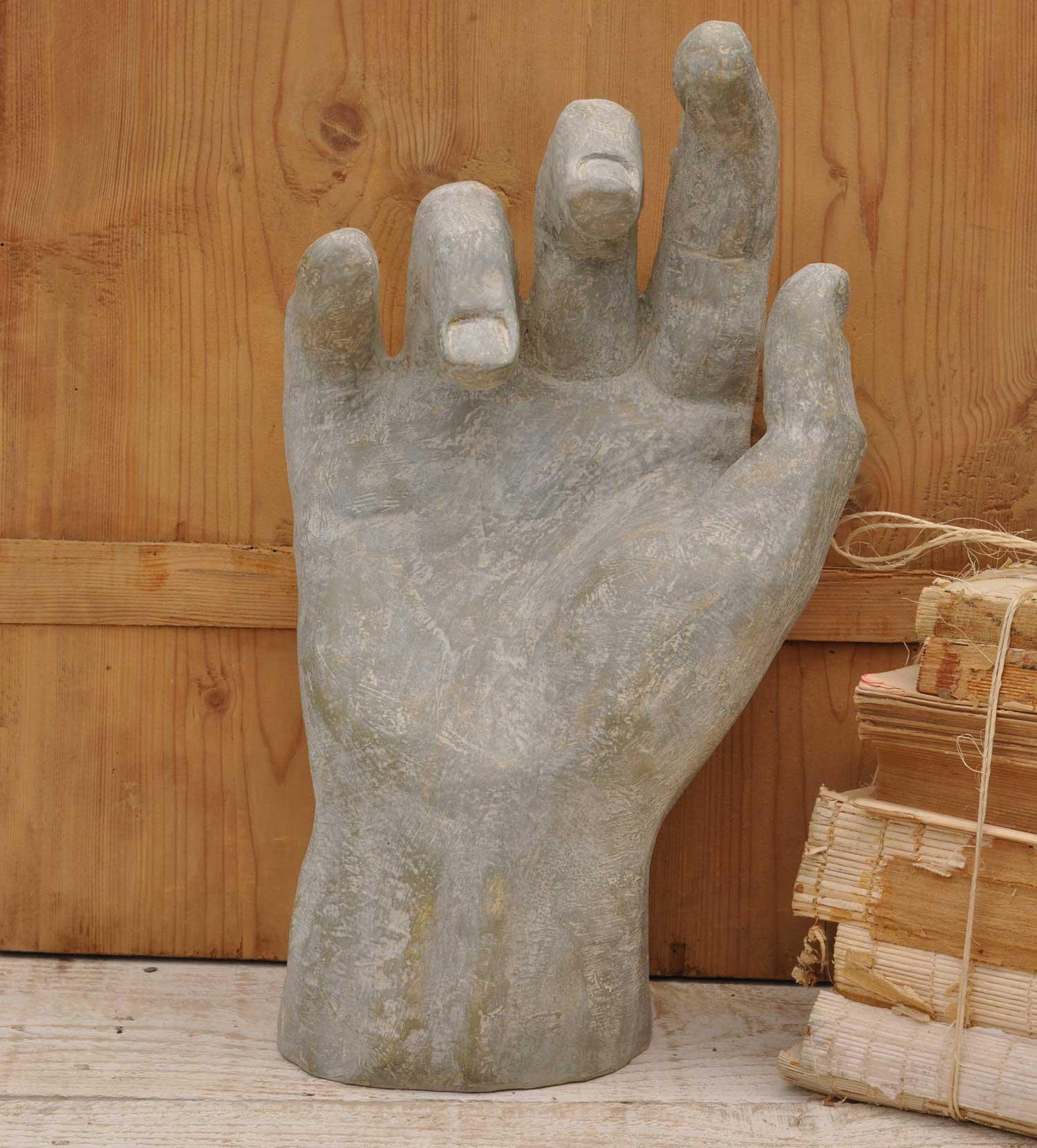 Large Hand Human Form Sculpture Home Barn Vintage