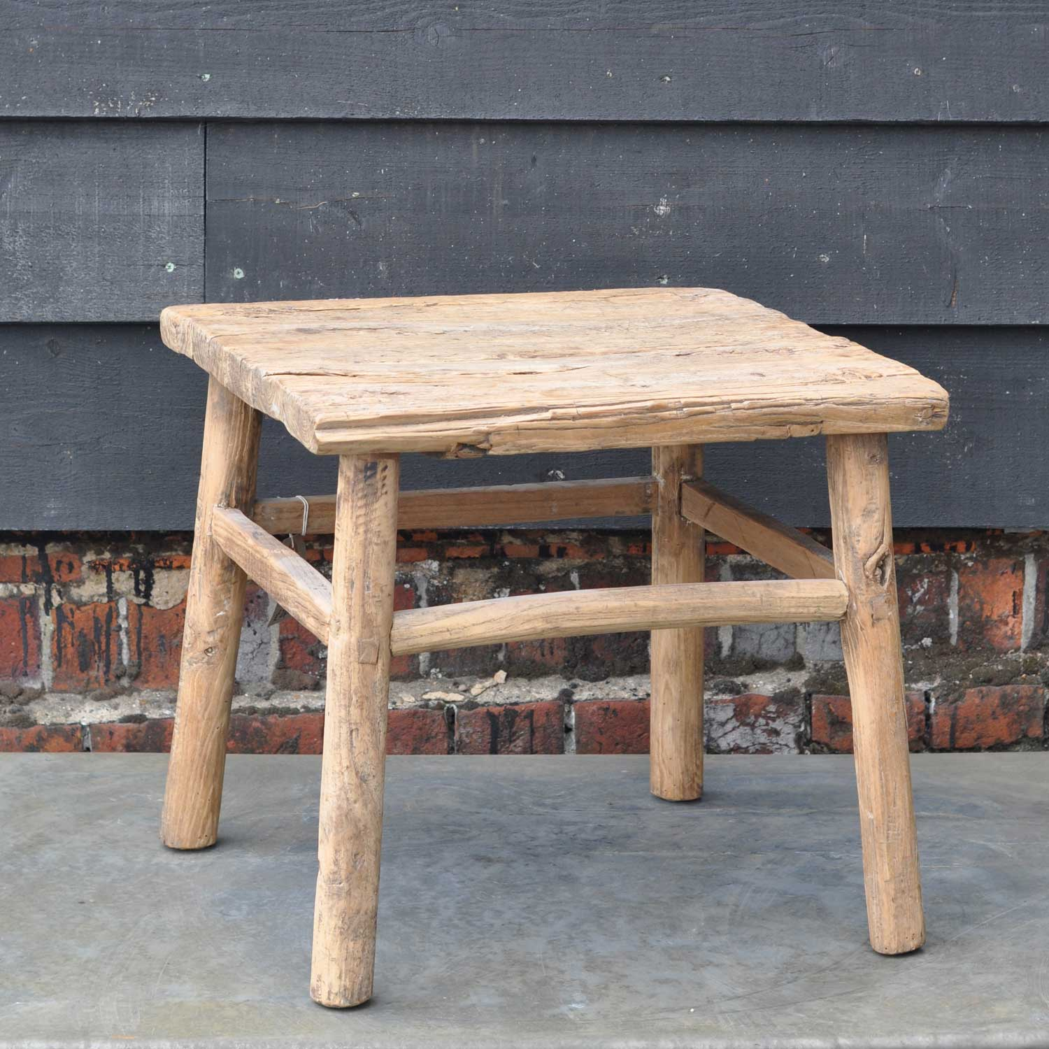 Reclaimed Rustic Square Elm Coffee Or Side Table Home Barn Vintage