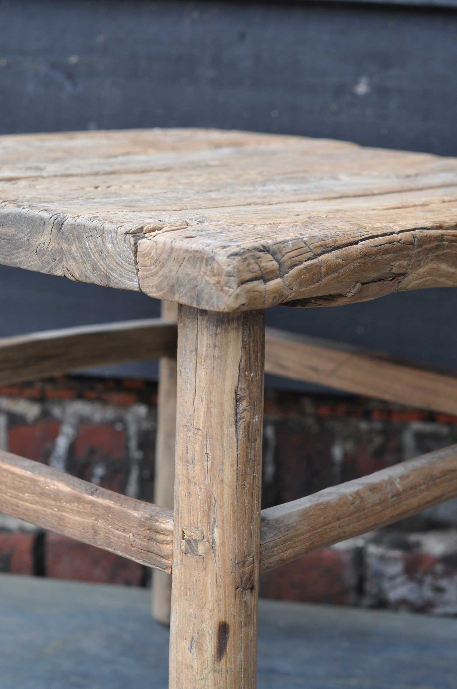 Reclaimed Rustic Square Elm Coffee Or Side Table