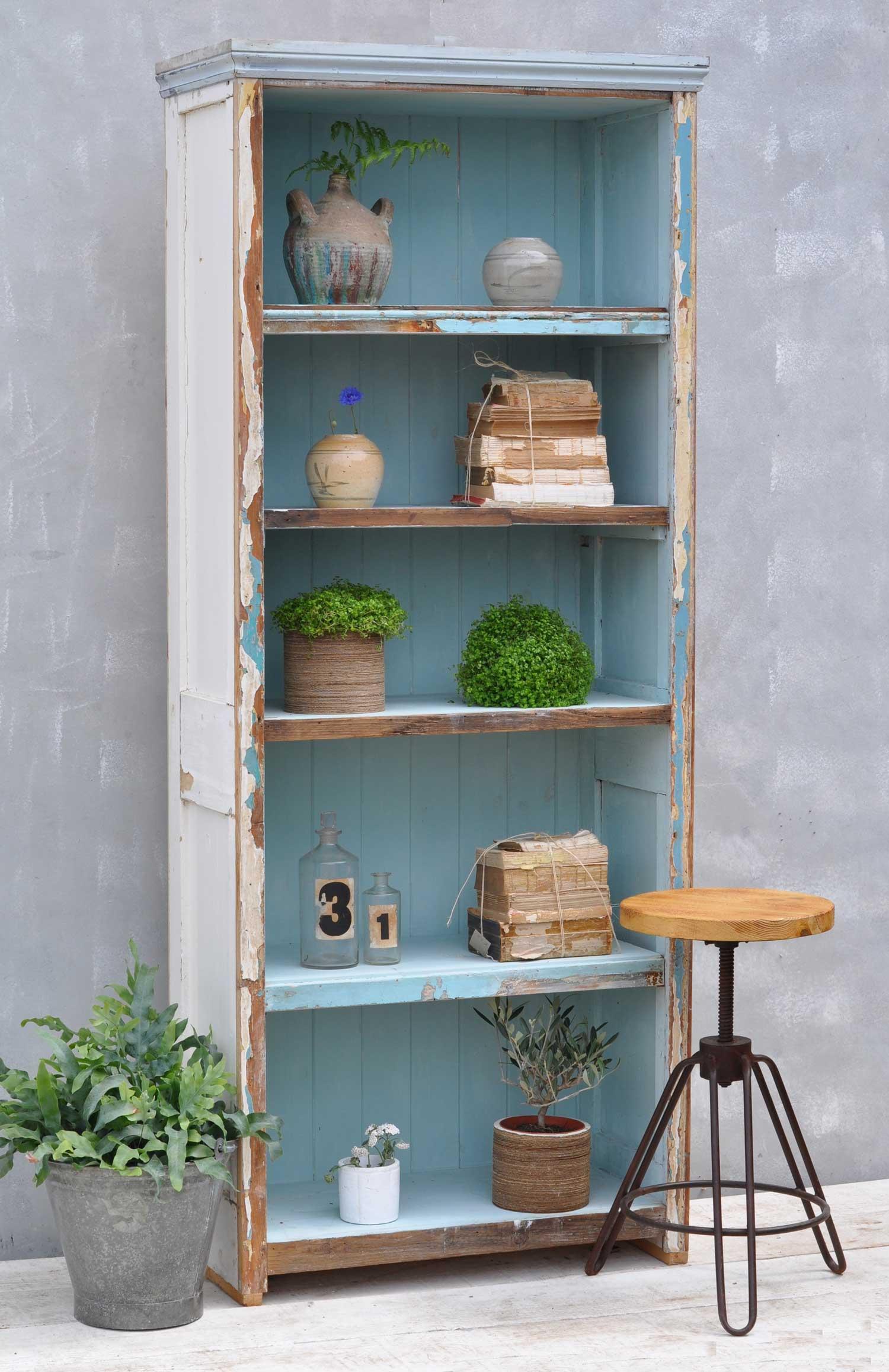 Reclaimed Bookshelves Interior Vintage Salvage Home Barn