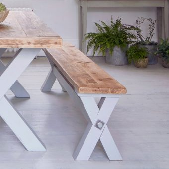 Reclaimed Wood Refectory Bench