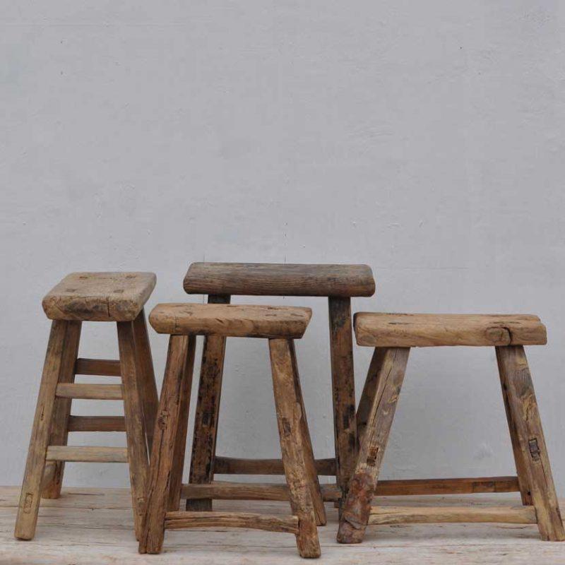 Rustic Antique Wooden Stool