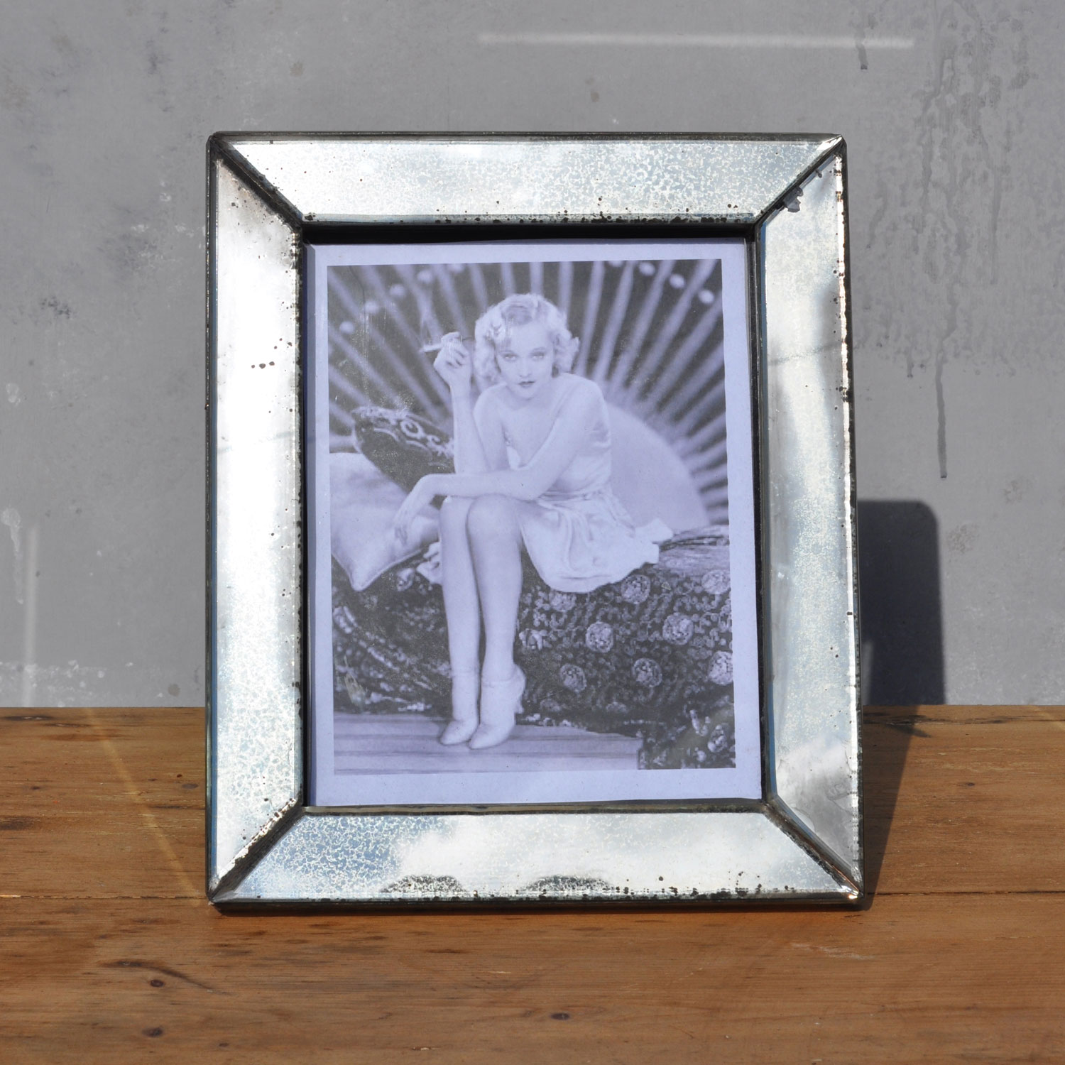 Eglomise Art Deco Antiqued Mirror Picture Frame Home