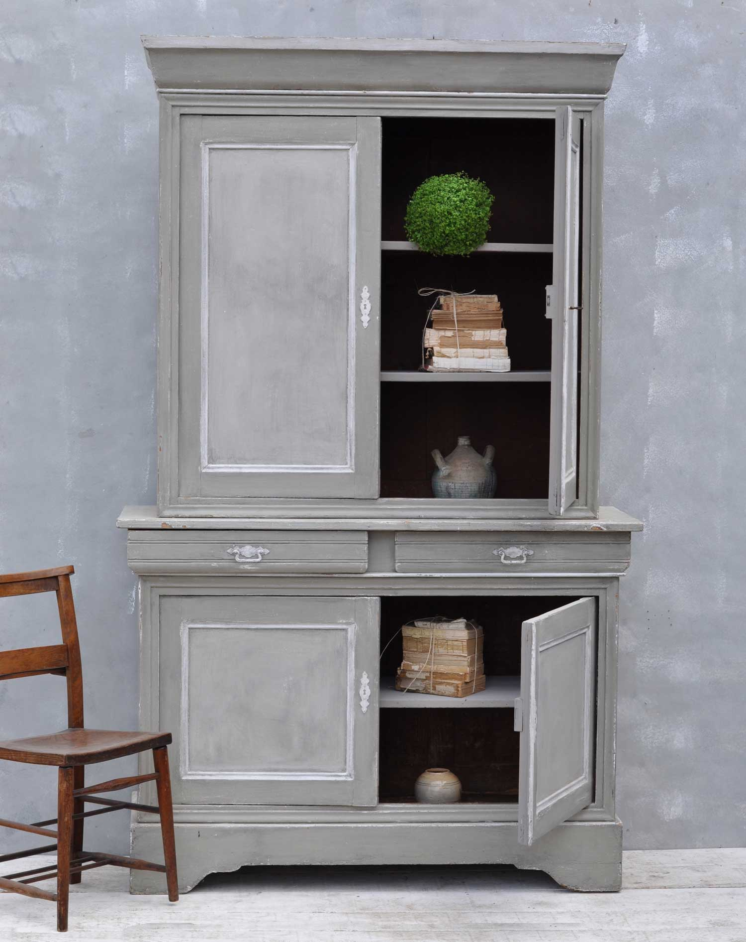 Vintage French Hand Painted Armoire Dresser - Home Barn ...
