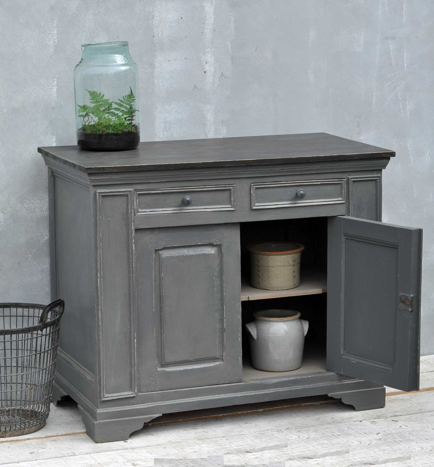Grey Hand Painted Cabinet