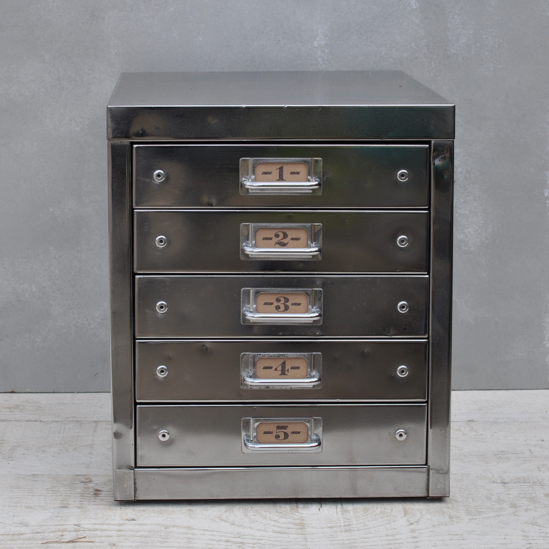 Vintage Industrial Steel Filing Cabinet 5 Drawer Home