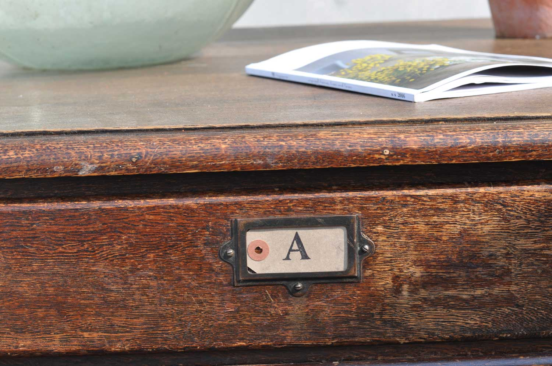 Vintage Oak Plan Chest Coffee Table On Wheels Home Barn