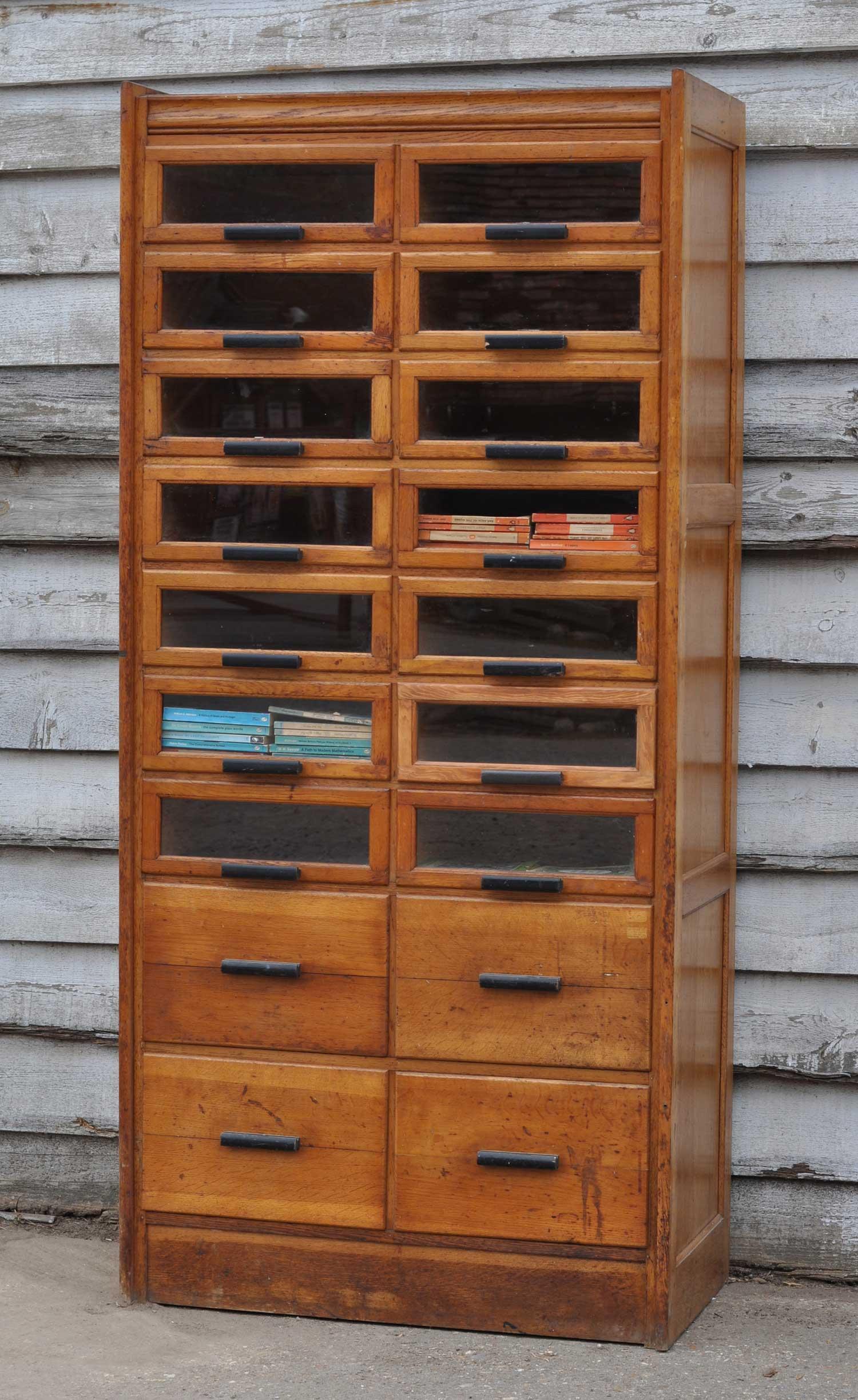 Vintage Oak Haberdashery Cabinet Shop Display Home Barn