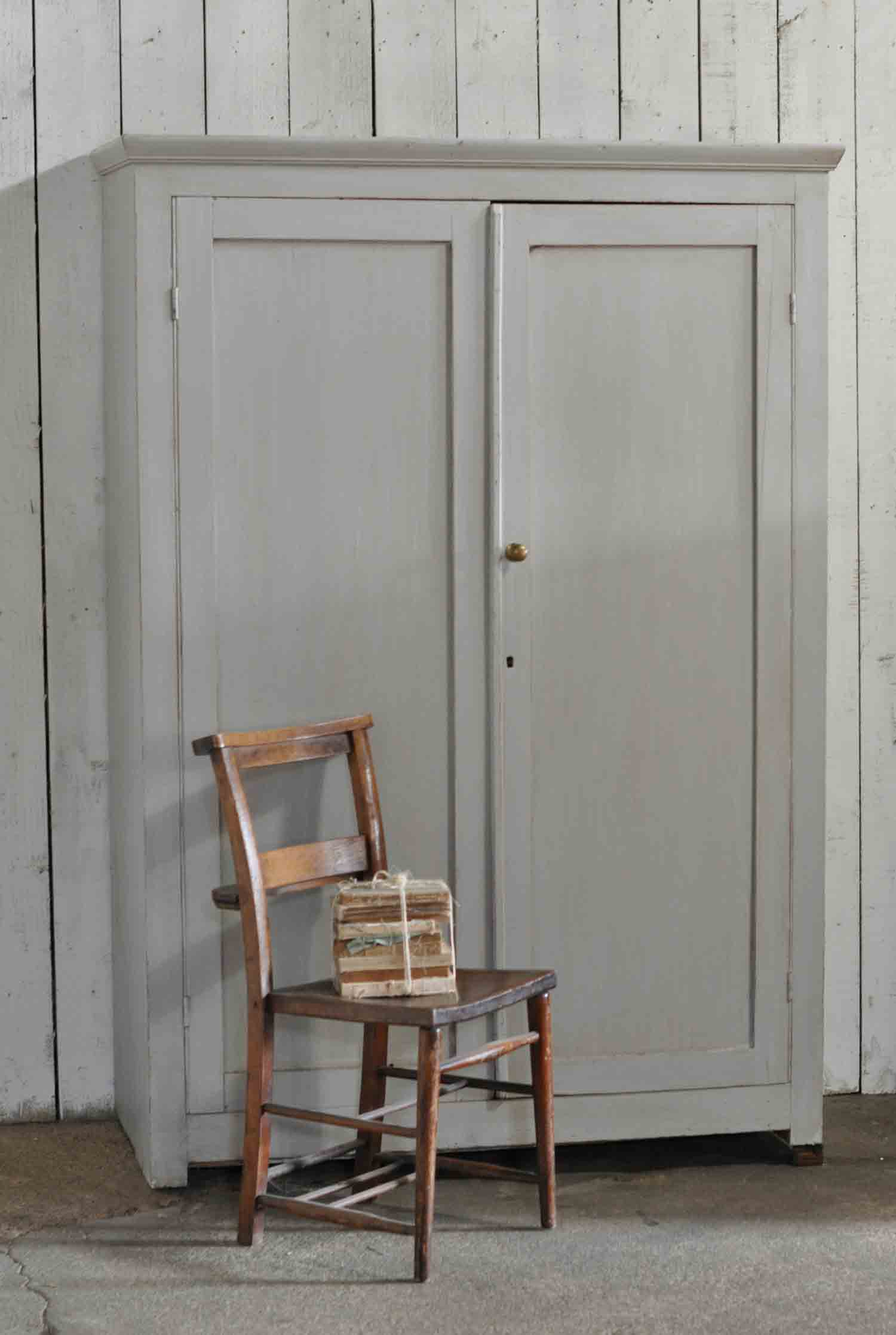 Vintage Painted Two Door School Cupboard Shelves Home
