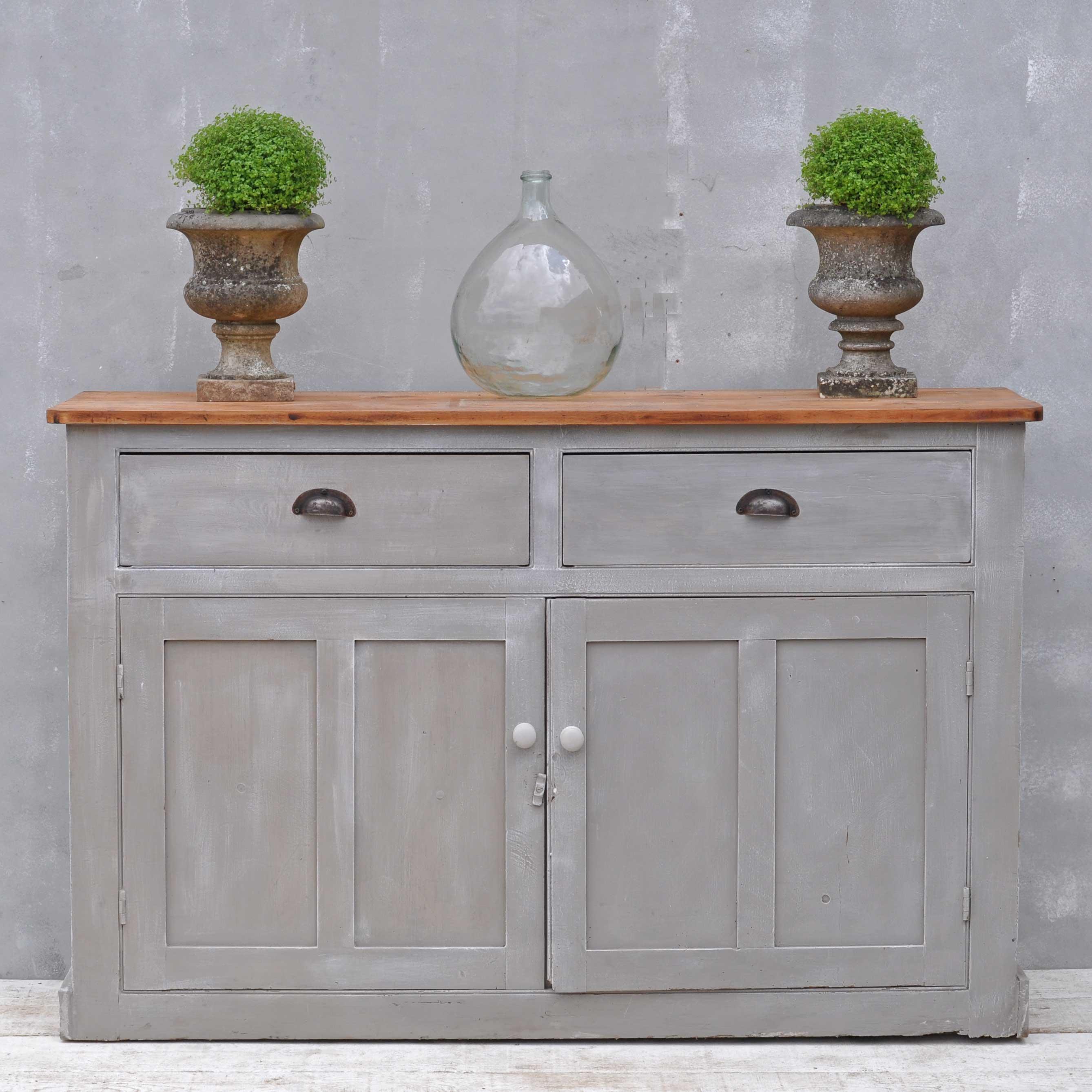 vintage sideboard hand painted victorian cupboard home barn vintage. Black Bedroom Furniture Sets. Home Design Ideas