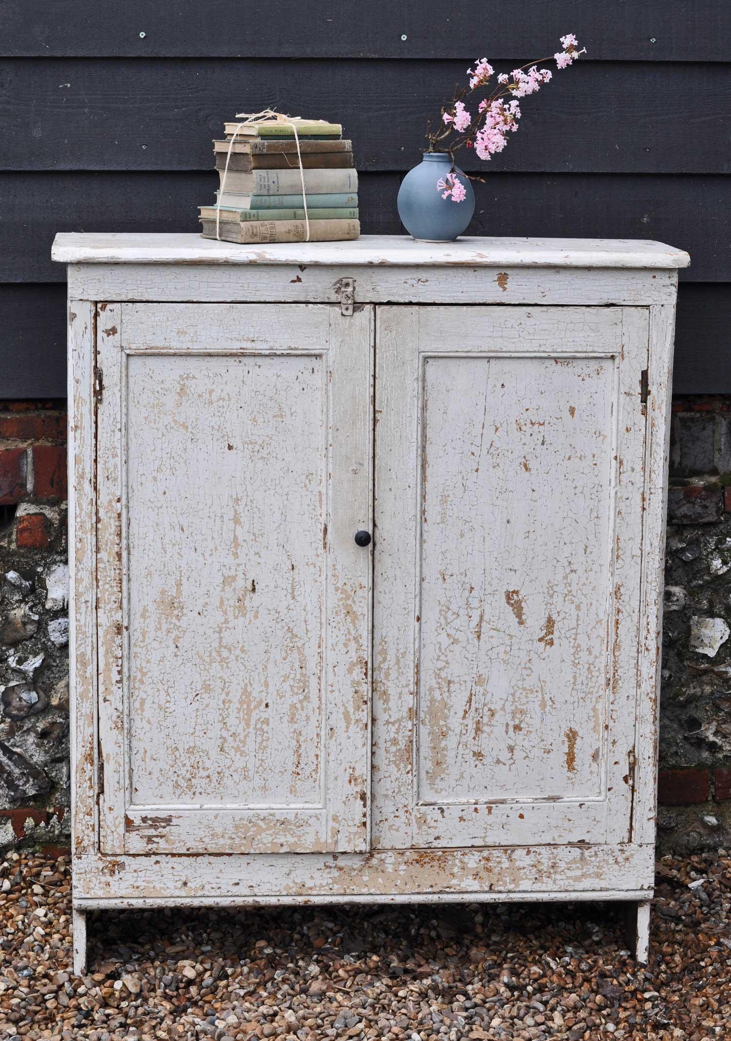 Antique Two Door Cupboard Slim Amp Tall With Original