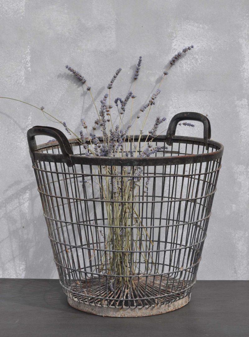 Vintage Galvanised Wirework Apple Basket