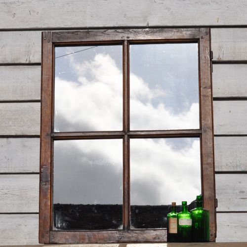 Four Pane Rustic Reclaimed French Window Mirror Home