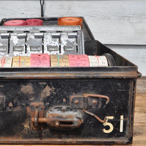 Vintage 1940 S Bus Ticket Machine Home Barn Vintage