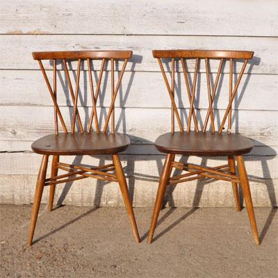 1970 S Original Elm Ercol Candlestick Chair Home Barn