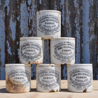 Vintage James Keiller & Sons / Frank Cooper Marmalade Pots