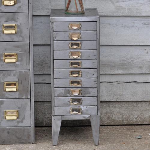 Vintage Steel Filing Cabinet 10 drawer - Vintage Steel Filing Cabinet 10 Drawer - Home Barn Vintage