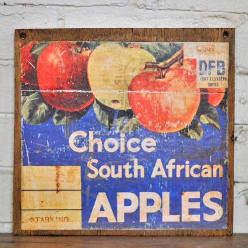 Fruit Crate Signs - South American Apple