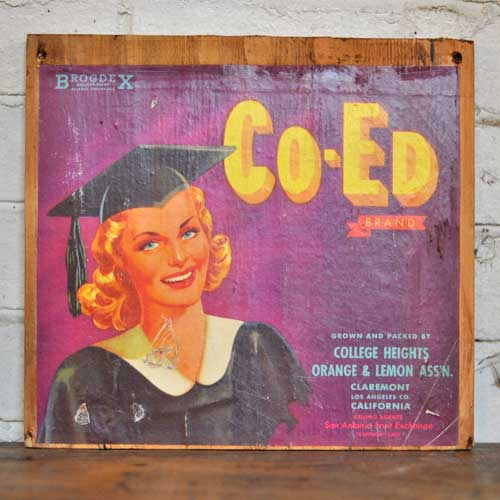 Fruit Crate Signs - Co Ed