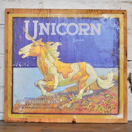 Fruit Crate Signs - Unicorn Brand